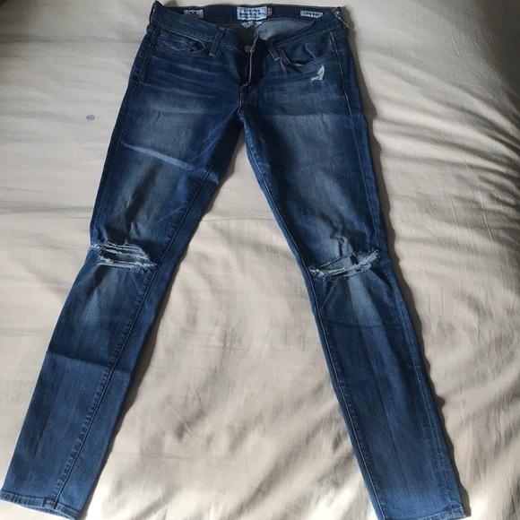 Lucky Brand Denim - Charlie skinny, ripped jeans.